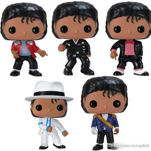 Low price FUNKO POP MICHAEL JACKSON BEAT IT BILLIE JEAN BAD SM00TH CRIMINAL Figures Collection Model Toys for Children Birthday gift