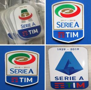 Serie A 2016 2017 2018 2019 2020 adesivi da calcio in silicone stampa badge da calcio floccaggio di buona qualità patch di calcio retro distintivo in gomma