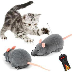 Elektrikli Uzaktan Kumanda Kedi Oyuncak Kablosuz uzaktan kumanda Elektrik Güç Hareketli Plastik Gerçekçi Akın Simülasyon Fare Pet Oyuncaklar