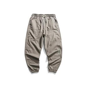 Luoye luo ó 2019 inverno novo estilo solto Moda Origional Men Casual Bib geral Casual Calças K456