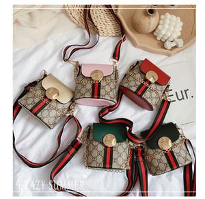 새로운 클래식 키즈 패션 디자이너 쇳조각 인쇄 핸드백 아기 여자 여행 어깨 가방 아이 학생 미니 공주 아이 이브닝 가방