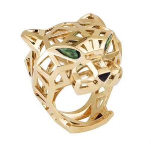 anelli di leopardo di marca del progettista di moda per signora e mans partito delle donne amanti regalo di nozze monili di lusso di fidanzamento per la sposa