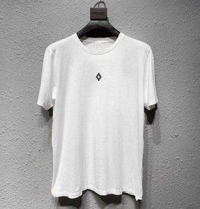 Beauté tideMARCELO BURLON manches courtes T-shirt MB impression ailes impression numérique occasionnel WY903 à manches courtes