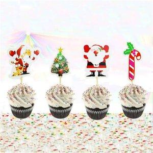 Noel Kek süsleyin Kart Takma Noel Baba Ağacı takın Çeşitli Patterns 1 8ss J1 ile Popüler Cupcake Topper Sıcak Satış Sign
