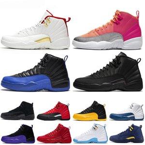 air jordan 12 12s retro Top tênis de basquete 12 12s Men Shoe Doernbecher FIBA reverso Taxi jogo real francesa dos homens azuis Trainers Outdoor Sports Sneakers 7-13