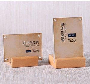 100 * 70 milímetros suporte vertical e horizontal Dois Use os produtos de preço etiqueta do sinal de Stands Acrílico Paper Display Stand Racks