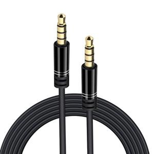 3.5mm AUX 케이블 꼰 와이어 남성 남성 스테레오 카 오디오 케이블 1M 스마트 폰 PC MP3 헤드폰 스피커