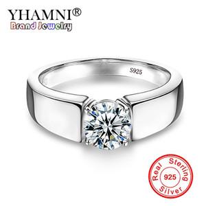 Argento originale 100% 925 Sterling Silver Ring Solitaire Classic 6mm 1CZ CZ Diamant Anelli di nozze per donne e uomini YNRD10