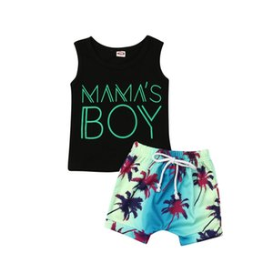 Pudcoco 2019 Summer Fashion Toddler Baby Boy Mama Tops Vest Beach Short Pants 2Pcs Outfits Set Clothes