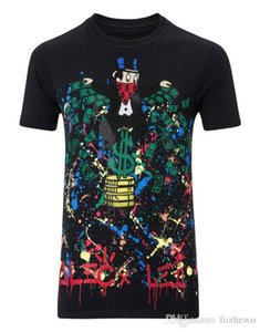 """Men T-SHIRT ROUND NECK SS """"MONOPOLI AL"""" cotton jersey t-shirt by the street artist Alec Monopoly enriched by colored crystals"""