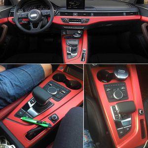 Для Audi A4 A5 B9 2017-2019 Интерьер Центральная панель управления Дверные ручки 3D / 5D углеродного волокна наклейки деколь автомобиля укладки Accessorie
