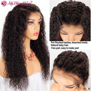 13x6 Lace Front Human Hair Wigs For Black Women HD Transparent Lace Wigs Curly Front Pre Plucked Baby Hair Remy 150%