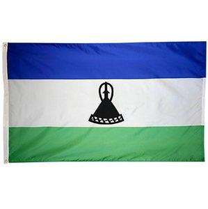 Флаг Лесото 3x5 футов 0. 9x1. 5m полиэстер напечатал Африканский флаг страны Лесото баннер летающий висит любой пользовательский стиль