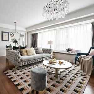 100% Neuseeland Wolle Handmade Geometric Bereich Teppich in rosa Farbe, Post moderne Dekoration Villa Teppich