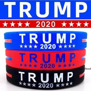 Trump Silicone Wristband Rubber Support Bracelets Bangles Make America Great Donald Trump 2020 Jewelry Party Favor LJJO8129