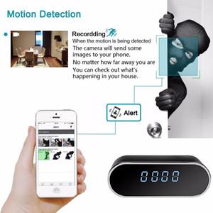 IP Control de Mini DV Teléfono Caja fuerte WIFI HD cámara del reloj de la cámara oculta APP CCTV IR de visión nocturna de alarma videocámara de la cámara Reloj Digital Vídeo