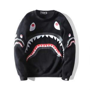 BAPE New Arrival Hommes Hoodies Mode Hommes Styliste Cartoon Sweats à capuche Impression Shark Veste Homme Femme de haute qualité Sweat-shirts Casual Noir