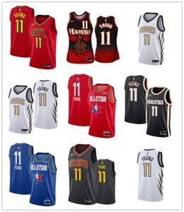 AtlantaHawksHerren Trae Young Black 2019-20 Peachtree Basketball City Jersey Wilkins Spud Webb Retro Red Mesh-Icon Jersey