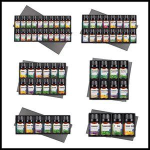 BOX Подарочные эфирные масла для ароматерапии Диффузоры Чистые эфирные масла Органический массаж тела Relax 10 мл Ароматическое масло Уход за кожей Drop Ship