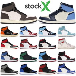 Free Shipping casual shoes 1s high og Obsidian UNC Chicago Pine Turbo Green Travis Scotts Bloodline 1 jumpman men women sports sneaker