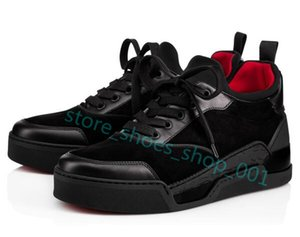 Christian Louboutin shoes Xshfbcl 2020 di alta qualità AURELIEN Red Shoes di fondo per Scarpe Uomo Sneaker sportive piatto AURELIEN SNEAKERS FORMATORI compleanno regalo di nozze