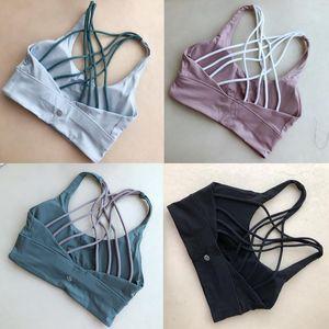 2020 neue Designerlululemonlululu Leggings lu Yoga Zitrone Frauen Mädchen Sport-BHs BH Training nahtlos camo yogaworld Satz gvkm #