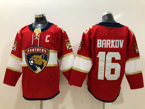 Hombre Florida Panthers Aleksander Barkov Jersey Sttiched Red 25th Patch # 16 Aleksander Barkov Florida Panthers MSD PATCH JERSEY S-3XL