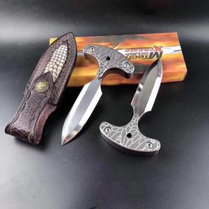 Yüksek kaliteli itme bıçak ağır kalınlaşmış D2 bıçak açık düz bıçak sabit kenar ayna sağkalım bıçak BM 940 550 Noel erkek hediye