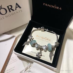 Pandora encanto de lujo de diseño de joyería de las mujeres pulseras pulsera de la aleación del tornillo manguito damas regalo bracciali caja original Bracciale Donna