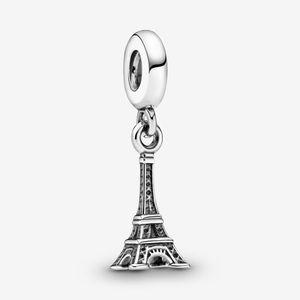Nouvelle arrivée 100% Argent 925 Paris Tour Eiffel Dangle Charm Fit original European Charm Bracelet Accessoires Bijoux fantaisie