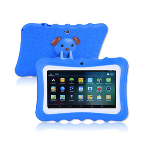 Hot selling 7 inch Children Tablet PC Android 4.4 AllWinner A33 512MB+8G Quad core crash proof gift colorful kids tablets