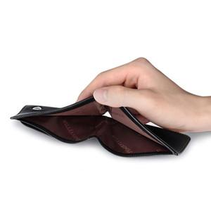 Designer-WILLIAMPOLO 2019 echtes Leder Kleine Portemonnaie Mini Wallet Men Purse Short Slim Design für Männer PL181366