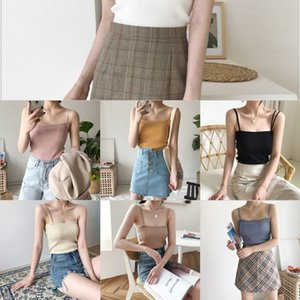Camisole female summer outdoor wear 2020 simple jacket shirt backpack all-match backpack slim knitted base shirt top
