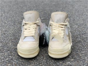 Released Off Authentic 4 SP WMNS Sail Bred 4S Designer Man Basketball Shoes Muslin White Black Zapatos Sneakers With Original Box