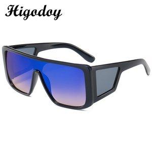 Higodoy femmes lunettes de soleil surdimensionnées Vintage Place Lunettes de soleil Men retangle Ladies Sunglasses Lunettes de soleil Oculos