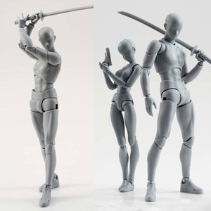 14cm 아티스트 아트 페인팅 Anime figure SHF 스케치 드로잉 Male Female 움직일 수있는 바디 찬스 액션 피규어 장난감 모델 드로우 마네킹