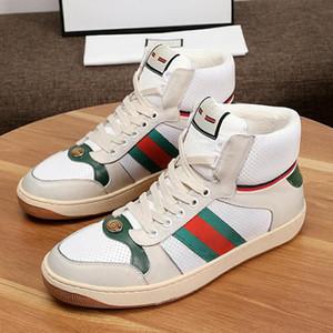 Erkekler Yüksek -Top Sneaker Parti Bilek Boots Lüks Tasarım CHAUSSURES İçin Moda Ayakkabılar Hommes Casual Erkek Ayakkabı Deri Scarpe Da Uomo Luxur dökün