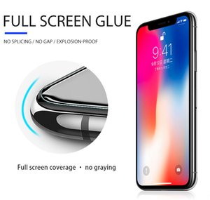 Factory free sample wholesale 9h 0.33mm full glue cover mobile cell phone film 3d curved tempered glass screen protector