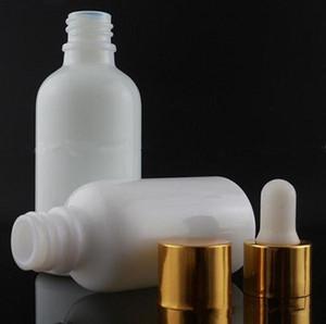 Vape 30 ml beyaz cam damlalık şişe 1 oz Beyaz porselen şişe çocuklardan vape ejuice e için parfüm kap sepeti kapağı e ...