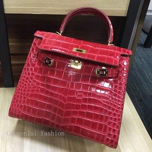Donanım 32 28 ile CARMENLAI Sıcak 2020 Yüksek Qulity Klasik Bayan Çanta Bayan Kelly Tote çanta Deri Debriyaj Omuz Çantaları Bayan Çanta