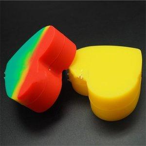 Reutilizable trompeta cenicero de silicona forma del corazón los titulares de cigarrillos Mini medicina cajas de almacenamiento de joyería Mulit Color Eco Fridendly 3 2bs E1