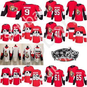 2018-2019 Ottawa Senators Edmonton Oilers Jersey 67 Max Pacioretty 65 Shaw 65 Erik Karlsson Hockey su ghiaccio Maglie