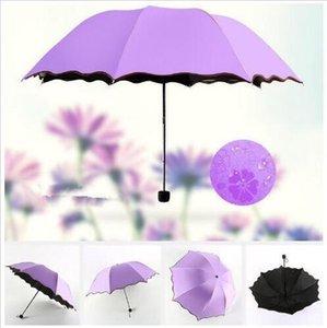 Regenschirme Vollautomatikschirm Unisex 3 Folding Licht Durable 8K Starke Regenschirme Kinder Rainy Sunny Regenschirme Outdoor-Gadgets C824