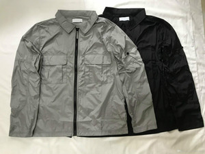logo OEM tasarım Su geçirmez Asya boyut adam ceket kol fermuar 2020 erkek lüks gündelik klasik tasarımcı ceketler erkekler mont üst metal naylon YKK