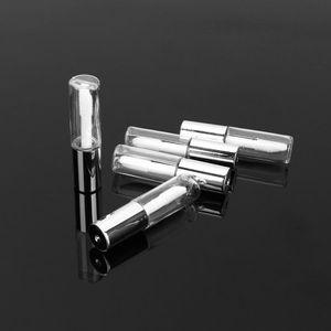 1,2 ml Lip Gloss Labios tubo vacío Borrar Cepillo de botella caja de herramientas de belleza Mini Botellas rellenables Lipgloss plateado HHA140