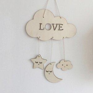 Décor de nurserie Ornements Étoile Photographie Props Pendentif Artisanat Novelty décoration en bois Dream Catcher Chambre bébé