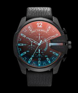 Новая мода Мужские часы Мульти часовой пояс Большой набор Кожа Календарь Часы Роскошная дизели Мужские часы dz1399 dz7313 dz7414 dz7332