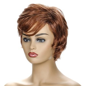 Wholesale Hair Wig Glueless High Quality Heat Resistant Fiber Synthetic Short Curly Fashion Wig For Women