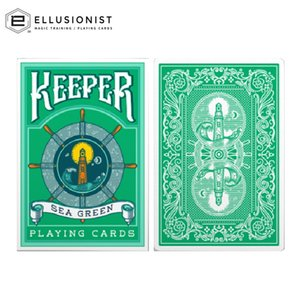Ellusionist Keeper Sea Green Playing Cards Bicycle Deck USPCC Collectible Poker Magic Card Games Magic Tricks Props for Magician