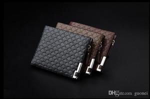 2017 de haute qualité en cuir PU Portefeuilles pour Hommes d'affaires Designer Porte Bifold cartes Porte argent plaid Porte-Monnaie Portefeuilles Mode